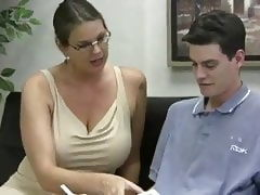 Carrie moon jerks off student