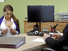 LOAN4K. Long-haired chick Mischel Lee wants to earn money