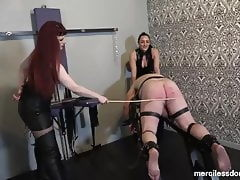 Caned for Pleasure -Spanking and Flogging of immobilized ass