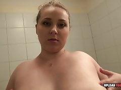 Busty girlfriend Edita displays her chubby body