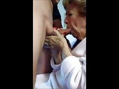 Hot grandma who really like suck cock drink cum