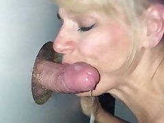 Glory Hole Slut Gets the Cum