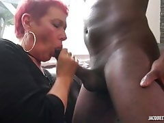 french christine from jacquieetmichel wants try black cock